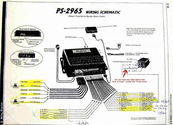 Vehicle Remote Starter Wiring Diagram