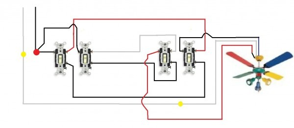 3 Way Switch Wiring Diagram For Light Pull Chain