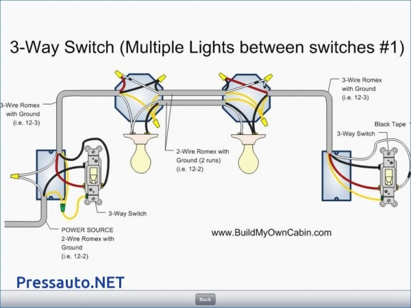 Wiring Diagram For A Three Way Switch With Multiple Lights Free