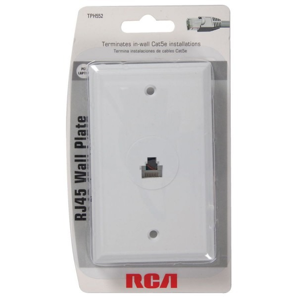 Rca White Rj45 Wall Plate At Lowes Com