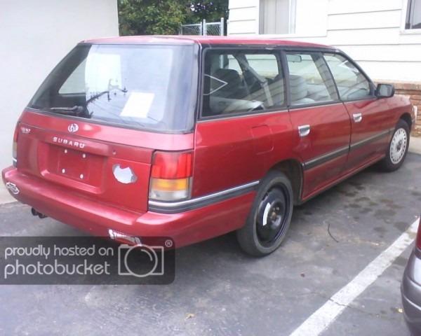 My New Car, 1990 Subaru Legacy Wagon Awd