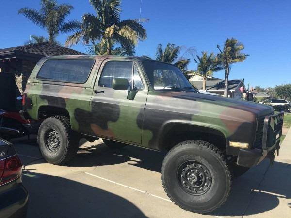 Bangshift Com This 1984 M1009 Military Blazer Is How Chevrolet