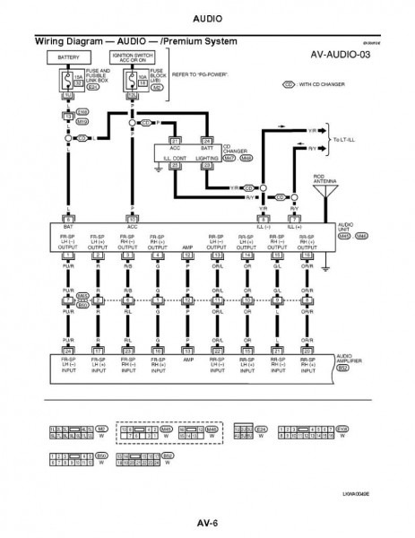 2003 Nissan Maxima Stereo Wiring Diagram