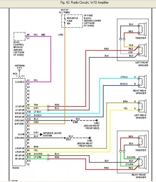 2002 Chevy Cavalier Radio Wiring Diagram
