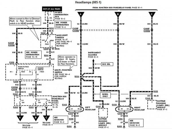 1997 Ford F 150 Headlight Switch Wiring Diagram