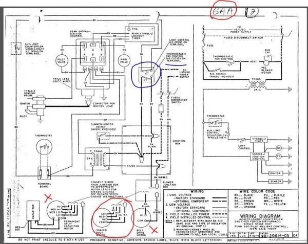 Ruud Gas Furnace Diagram