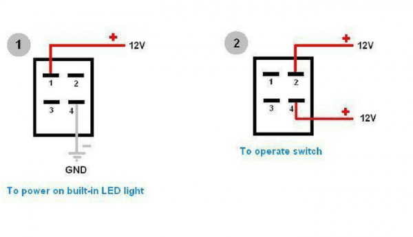 12v 4 Pin Switch Wiring Diagram