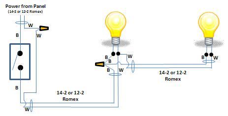 Wiring Diagram 2 Lights 1 Switch