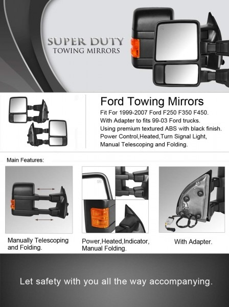 Amazon Com  Dedc Ford Towing Mirrors F250 Ford Tow Mirrors F350
