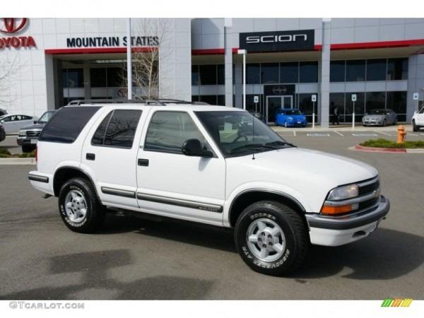 1998 Summit White Chevrolet Blazer Ls 4x4  47635466