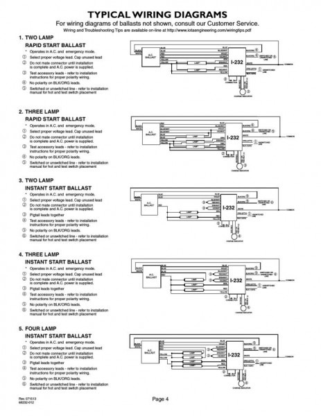 4 Lamp T5 Ballast Wiring Diagram