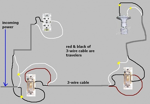 2 single pole switches on same circuit
