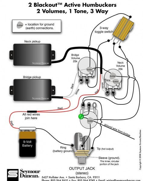Double Neck Guitar Wiring Diagram