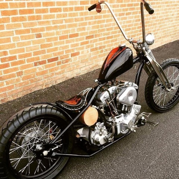 Harley Davidson Shovelhead Chopper With Chainside Rear Brake