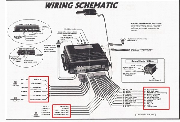 Auto Command Remote Starter Wiring Diagram