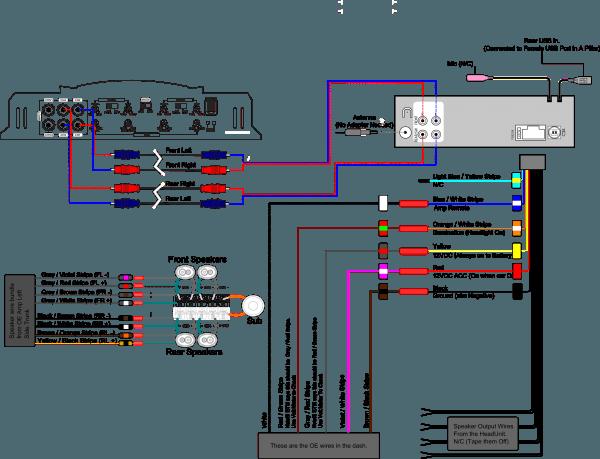 Auto Amplifier Wiring Diagram