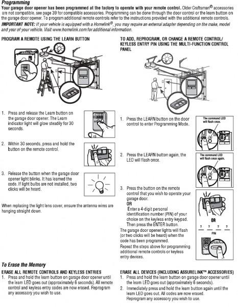 Garage  Terrific Craftsman Garage Door Opener Manual Ideas Parts