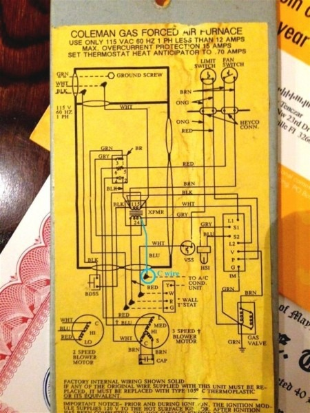 Coleman Heater Wiring Diagram