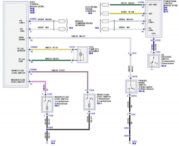 Ford Focus Wiring Diagram 2002