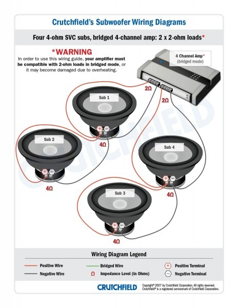 Diagram Moreover Car Stereo Wiring Diagram Also How To Wire 4 Ohm