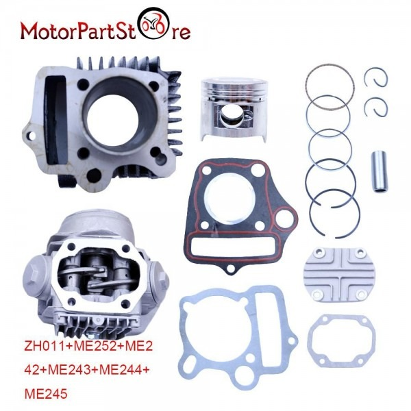 47mm Cylinder Head Piston Rings Gaskets Kit For Trail 90 Scooter