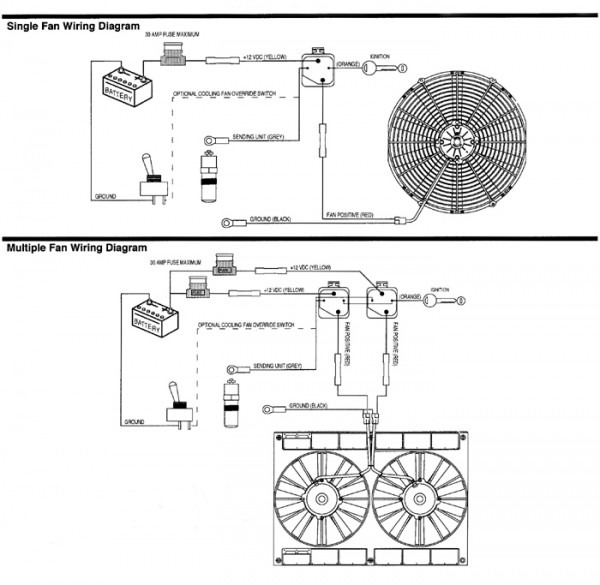 Single Electric Fan Wiring Diagram