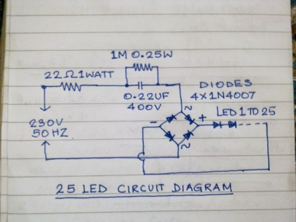 Mains Operated 25nos  Led Lamp  7 Steps (with Pictures)