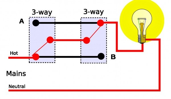 Gallery Of Simple 3 Way Switch Diagram California Wiring Schema