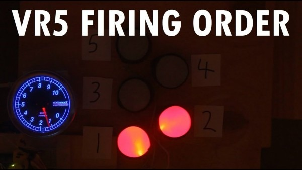 Audiovisual Demonstration Of Vw Vr5 Engine Firing Order