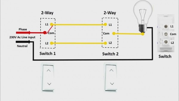 Two Way Switch Connection In Engilsh