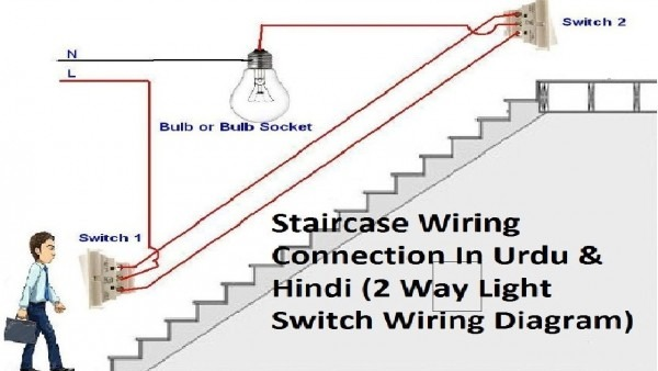 How To Make A Circuit Of Two Way Switch At Home Staircase In Hindi