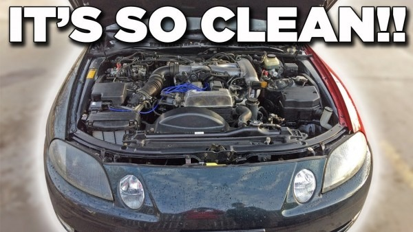 High Pressure Cleaning The Engine Bay