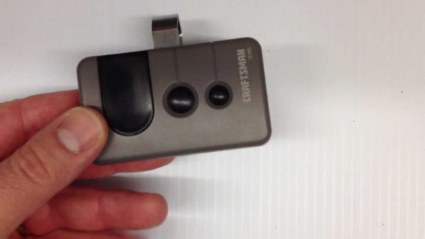 How To Program A Garage Door Remote & Change The Battery Craftsman