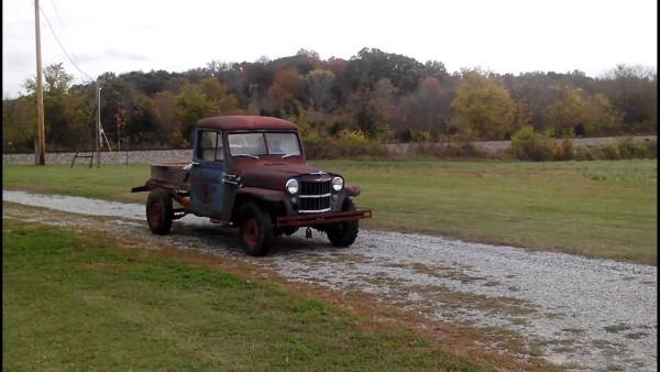1956 Willys Truck First Run In 25 Years