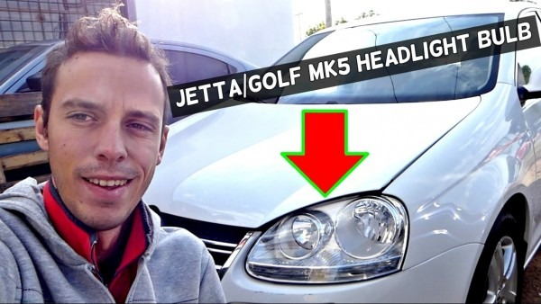 Vw Jetta Golf Mk5 Headlight Bulb Replacement 2006 2007 2008 2009