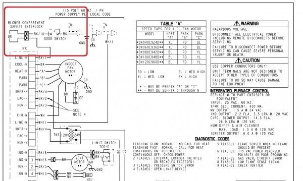 Carrier Heat Pump Air Handler Wiring Schematic