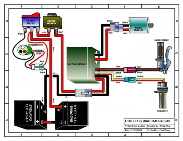 24 Volt Scooter Wire Diagram