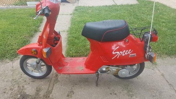 My Latest Purchase  87 Honda Spree Iowa Edition