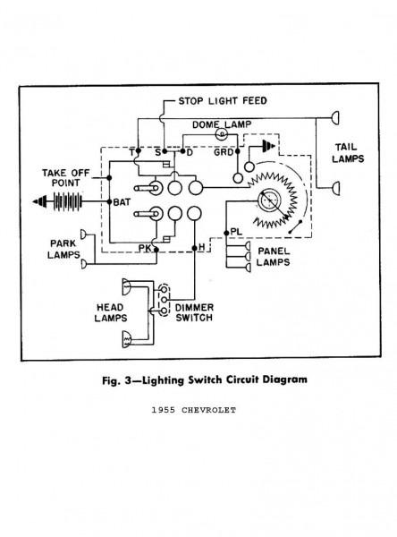 1955 Chevy Headlight Switch Wiring Diagram