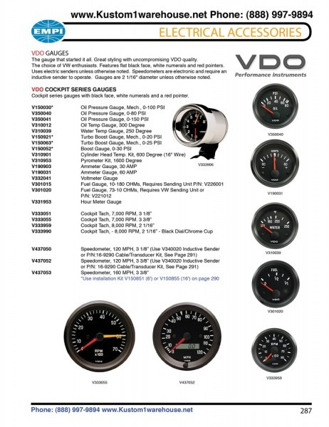 Vdo Tachometer Manual