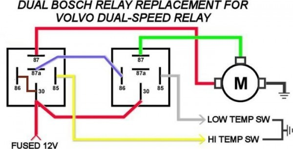 Electric Fan Temperature Switch Relay Wiring Diagram