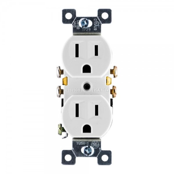 Ge Grounding Duplex Receptacle With Fast Easy Pressure