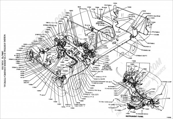 1969 F100 Wiring Diagram