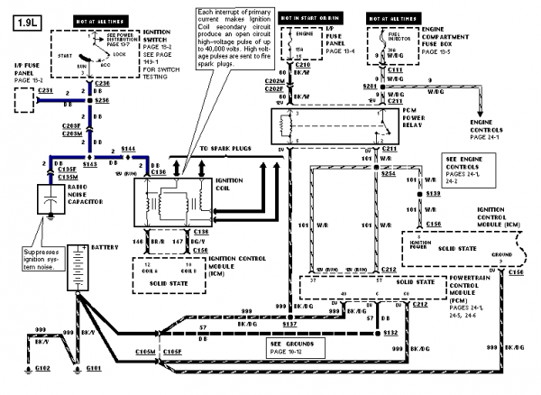 1994 Ford Escort Wiring Diagram