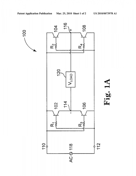 Bridge Rectifier Circuit With Bipolar Transistors
