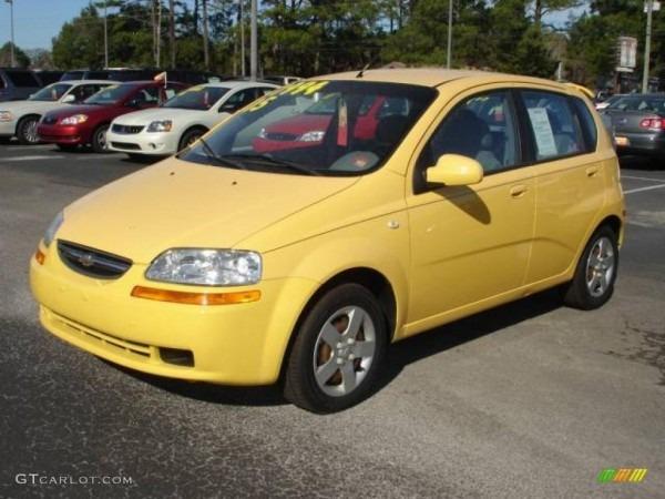 2005 Summer Yellow Chevrolet Aveo Ls Hatchback  2812719