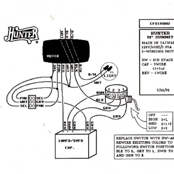 Hunter Ceiling Fan Light Kit Wiring Diagram