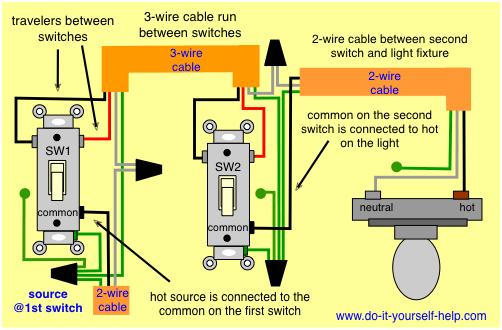 Three Light Switch Wiring Diagram