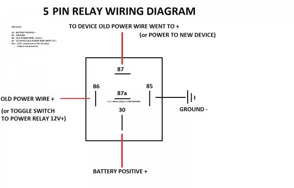 5 Pin Automotive Relay Wiring