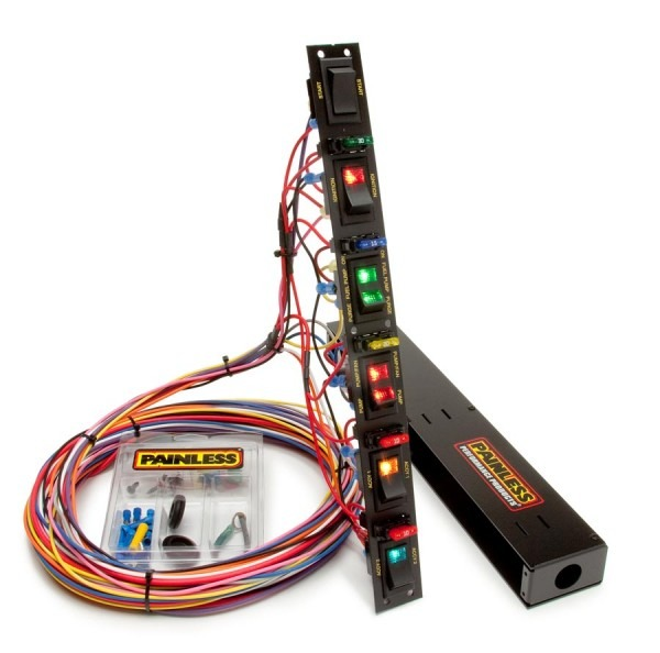 Fused Dragster Vertical 6 Switch Panel W Wiring & Hardware